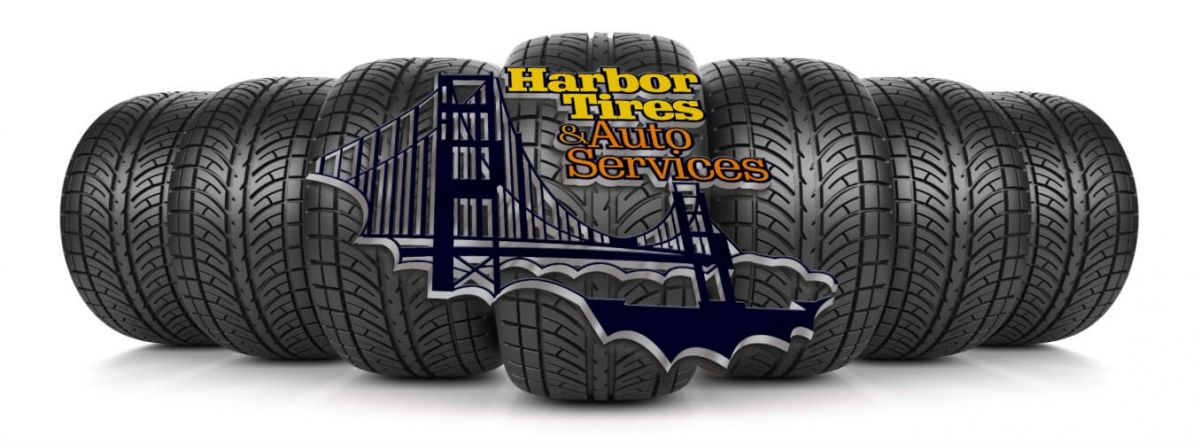 Harbor Tires and Auto Services Logo and tires