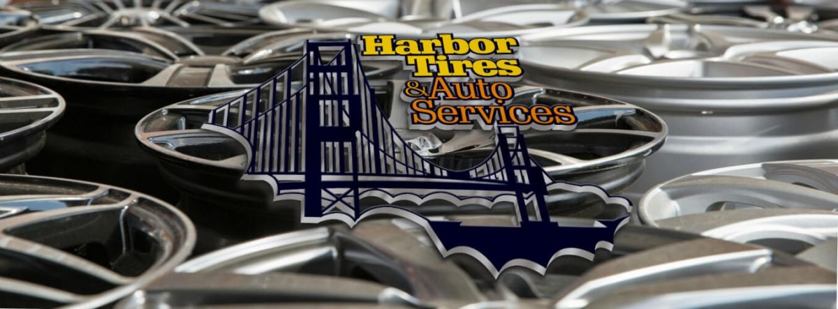 Harbor Tires and Auto Services Logo and wheels